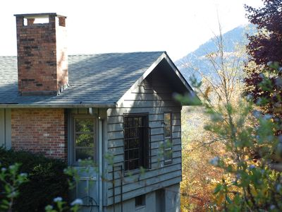 Photo for Book 7 nights, 1 night free! Chic Authentic 1940's Mtn Cabin: View of Whiteside
