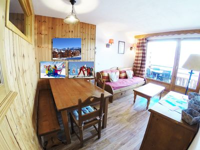 Photo for 2-room apartment, fully equipped in Residence 3 * at the foot of the piste at 1800