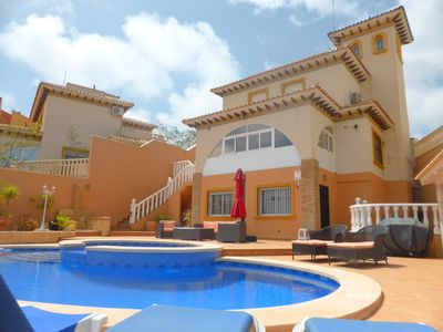 Photo for Superb Detached 5 bedroom Villa with wonderful outside Pool & dining area