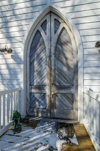 These 300-year old doors came from a church in Baltimore