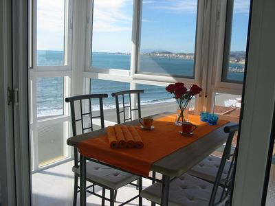 Photo for GORGEOUS APARTMENT DIRECTLY AT THE BEACH, SPECTACULAR VIEWS, SHOPS NEARBY