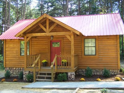 "Photo for Mentone Getaways ""Mystic Hideaway"" Cabin Rental"