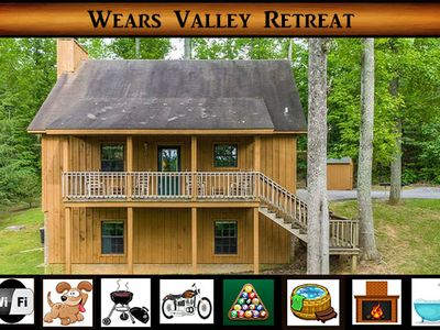 Photo for Wears Valley Retreat - Pool Table / Hot Tub / WiFi / Pet Friendly