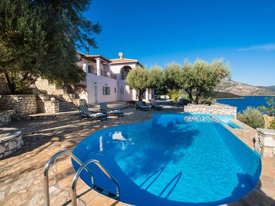 Photo for Premium 8p seafront villa in Sivota with spectacular views and 100% privacy
