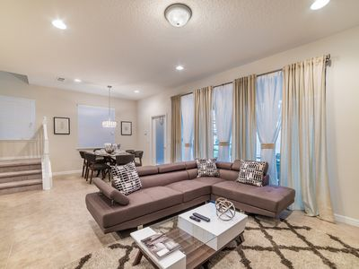 Photo for Beautiful professionally decorated townhome with private pool and game room!
