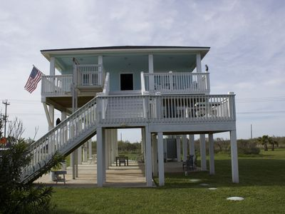 Photo for Handicapped Accessible Beautiful Beach Cottage - 160 steps to the sand