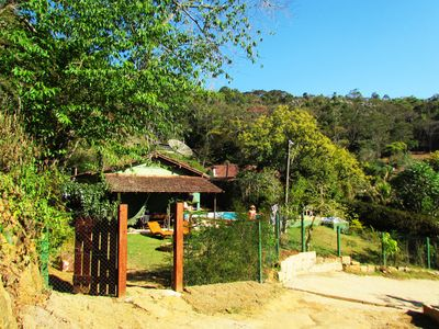 Photo for Site in Itaipava, with 3 bedrooms, swimming pool, barbecue, wood stove, fireplace