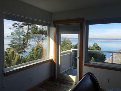 An amazing view of the Dungeness Spit & Straights os Juan de Fuca from your room