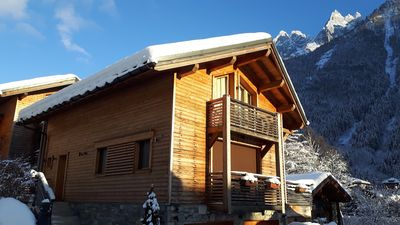 Photo for New chalet contemporary center of Chamonix, Mont Blanc