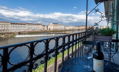 Photo for Charming,located in the heart of Florence,terrace on Lungarno,beautiful view of Florence, free wi-fi