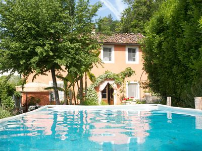 Photo for Very private villa, pool, 12 km to Lucca, walk to restaurant, amazing views