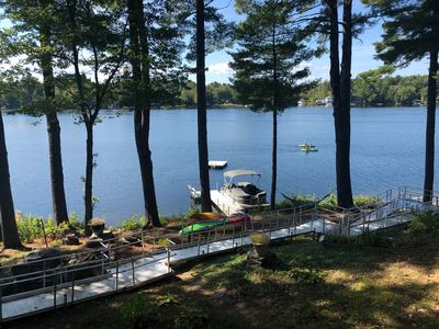 Photo for Sunny Waterfront Little Sebago Home - Perfect for Large Families!