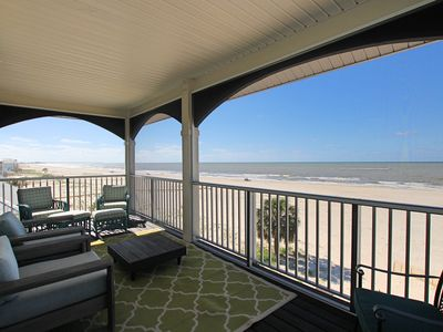 Photo for Gulf Front, recent remodel, hot tub, outdoor kitchen,fire pit, gorgeous views