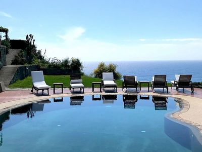 Photo for Villa Alisea: A splendid two-story villa located on a hillside, facing the sea, with Free WI-FI.