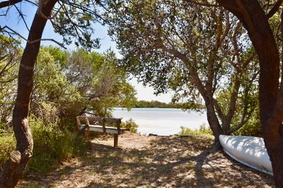 Located right on the edge of the Moulting Lagoon.