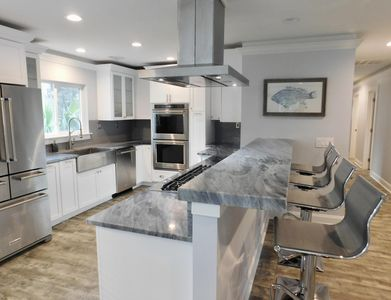 Completely rebuilt home.  And I do mean EVERYTHING. This is my dream kitchen.