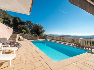 Photo for villa 110 m2 with swimming pool and breathtaking view, not overlooked.