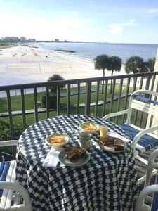 Photo for Updated St Pete Beachfront Condo #2 With Panoramic View - Aug 10-14 special rate