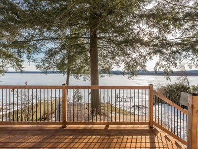 Photo for Beautiful cottage on the superb Brome Lake, 3 bdr, 2xbtr, 3Ter, pedalo Kayak