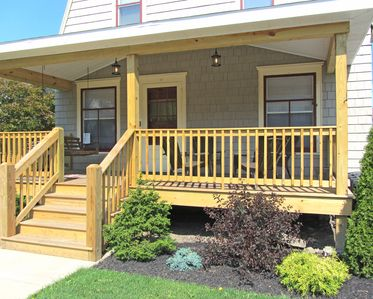 Lovely Porch to spend lazy afternoons at 12 Walnut Street!