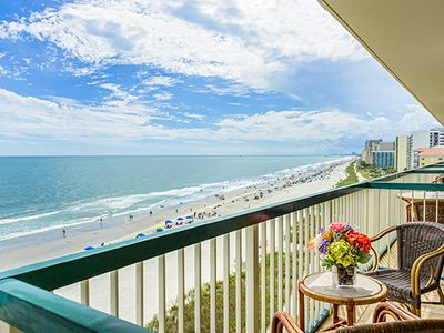 Photo for Oceanfront Condo Steps from Beach & Family Kingdom w/ Resort Pool & Lazy River
