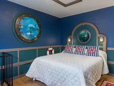 Photo for Nautilus- Submarine Decor 1 Bd, Queen Bed, Fireplace, Kitchenette, Spiral Stairs