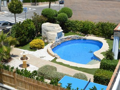 Photo for BEAUTIFUL AND QUIET VILLA, POOL, BARBECUE, A / C NEAR BEACH