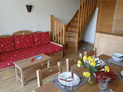 Photo for Surface area : about 32 m². Living room with pull-out sofa. Bedroom with double bed