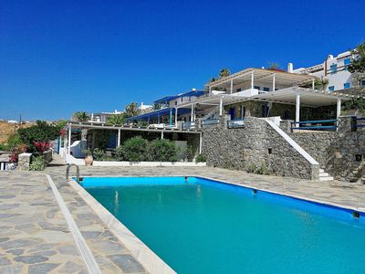 Photo for Kleopatra Apartment: Apartment in Mykonos, shared swimming pool, 2 bedrooms, Kalafatis Beach