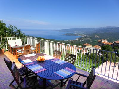 Photo for Panoramic sea and mountain views, Independent village house,