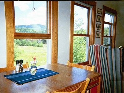 Field and Western Mountain from 'Ferncrest' dining area.