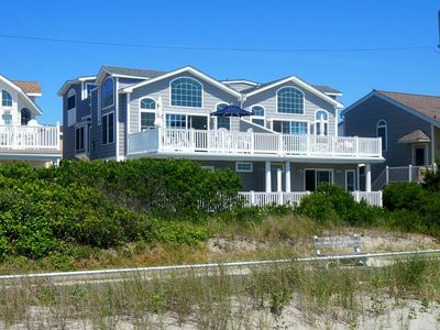 Photo for Beachfront townhouse. Jacuzzi tub and separate shower. Also a deck with ocean views.