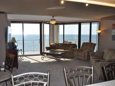 Photo for One Ocean Place 3br/3 bath end unit. Large balcony, Beach Chairs and Umbrella.