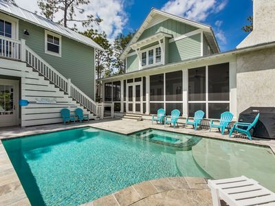Photo for Private Heated Pool and Golf Cart! Brand New Home! 3 King Suites!