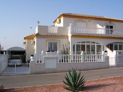 Photo for Luxury holiday home, large pool, new WLAN free. Villamartin golf course