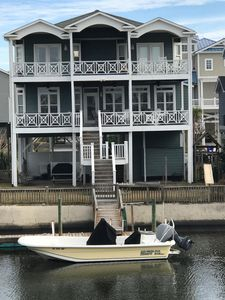 Photo for OIB Canal Home  Direct Beach Access Boat Dock