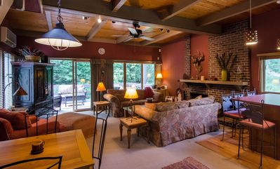 Photo for 2 Bedroom Rustic Vermont Lodge - Great Ski Location & Full A/C for summer fun!