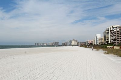 Beautiful Marco Island beach with white sand and plenty of Sea Shells!