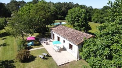 Photo for Beautiful stone Girondine on 5 Ha. Pool, billiards ...