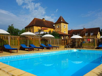 Photo for Stone gites, peaceful, large pool & many on-site activities, ideal for families.