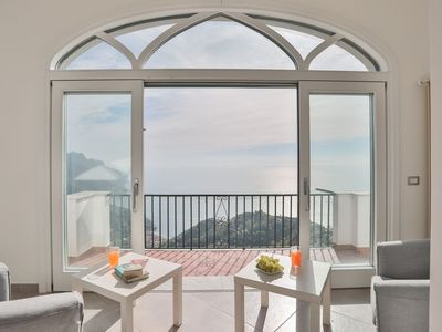 Photo for Ravello Apartment rental w/Views, AC, Wi-Fi, Walk to Town