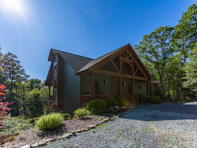 Photo for Mountain Camp - 3 miles from Main Street Blowing Rock! Hot Tub, Pool Table, Sauna, Views, Creek