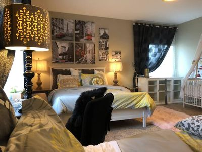 Photo for RG#1-1Large Private Bdrm-Bthrm&Queen+Full Bd&Massage Ht Tub