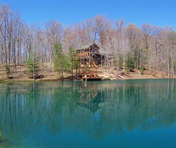 Photo for Tom T. Hall Cabin: Water Front, Secluded, Luxurious Mountain Log Home