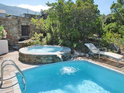 Photo for charming barn, private pool, near St Florent