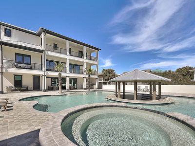 Photo for Spectacular Brand New Vacation Home on 30A w/ Enormous Pool & Rooftop Deck!
