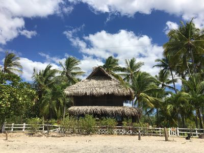 view from the beach of the bungalow