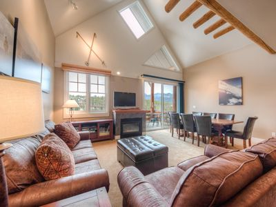 Photo for Spacious ski-in, ski-out townhome with private hot tub, private decks and mountain views
