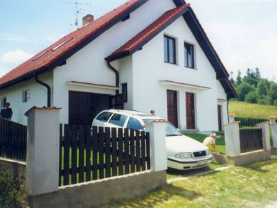 Photo for Holiday house with outdoor swimming pool and sauna by the Lipno