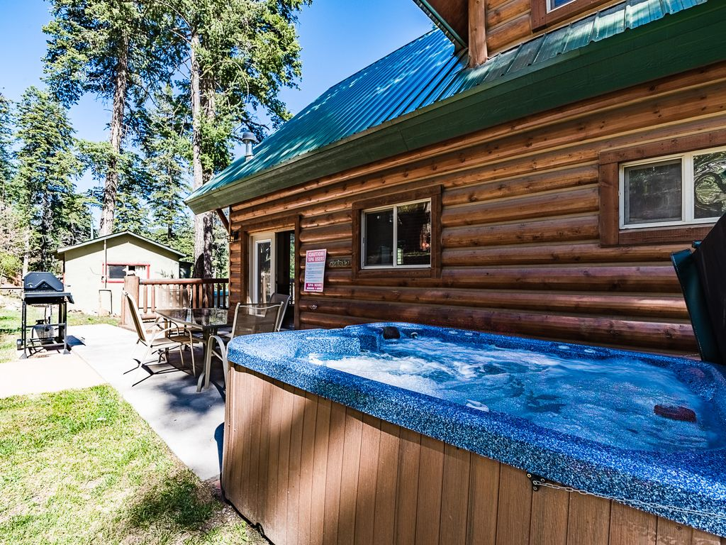 Fox hollow beautiful log cabin with a view and a private for 6 bedroom cabins in ruidoso nm